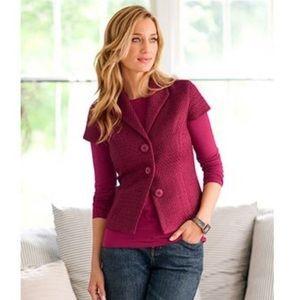 Coldwater Creek Boucle Blazer Pink Wool Jacket
